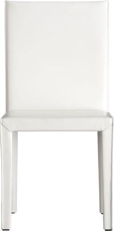 Folio White Leather Side Chair in Dining Chairs | Crate and Barrel