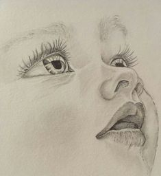 Girl Drawing Sketches, Cool Art Drawings, Pencil Art Drawings, Realistic Drawings, Drawing Art, Horse Drawings, Drawing Ideas, Pencil Portrait Drawing, Pencil Painting