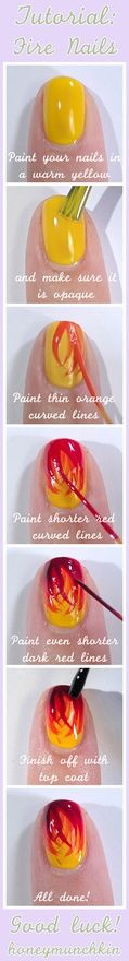 Fire nails tutorial #nailart