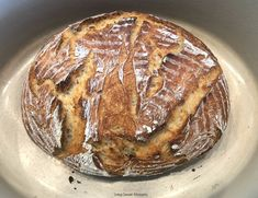 This crusty and delicious Instant Pot Sourdough Bread is made with yogurt and is ready in less than 6 hours from start to finish. Ideal by itself or for sandwiches as well.