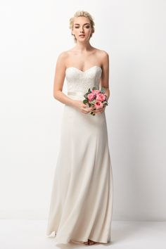 Wtoo Bridesmaids gowns are designed to mix and match to create a more interesting ensemble and to accommodate the different shapes of your bridal party. Wtoo Bridesmaids dresses are designed in gor… Red Bridesmaids, Bridesmaid Dress Styles, Bridal Dresses, Bridal Reflections, Mob Dresses, Stunning Dresses, Strapless Dress Formal, One Shoulder Wedding Dress, Wedding Bells
