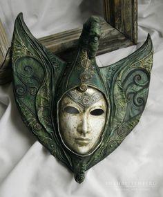 Интерьерные  маски ручной работы. Ярмарка Мастеров - ручная работа. Купить Джехути. Handmade. Маска, архетип, лак