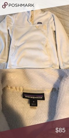 White Patagonia retool pullover Perfect condition Patagonia Jackets & Coats
