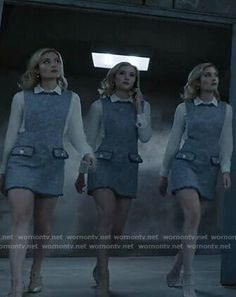 The Frost Sisters' blue tweed dress on The Gifted X Men, The Gifted Tv Show, Marvel And Dc Characters, Marvel Gifts, Jade Dress, The Avengers, Female Fighter, Ford Classic Cars, Marvel X