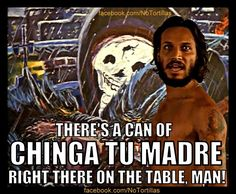 """(PNS reporting from TAMPA) Chicano actor Jesse Borrego, famous for Blood In, Blood Out, is set to unveil a new salsa that he says will """"light a fire under your Movie Quotes, Funny Quotes, Funny Memes, Hilarious, Qoutes, Mexican Quotes, Mexican Humor, Mexican Moms, Movies"""
