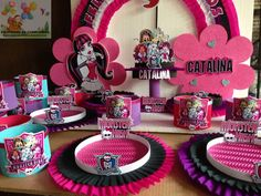 DECORACIONES INFANTILES: Monster high