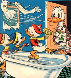 ♥ Donald & Friends ♥ Disney Duck, Disney Love, Disney Magic, Disney Art, Walt Disney, Donald Duck Comic, Donald And Daisy Duck, Childhood Characters, Cartoon Characters