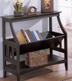 Amazon Antique Finish Bookshelf Magazine Table Home Amp Kitchen Entryway