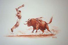 Aquarelles corrida - Aquarelle Marichalar Watercolor