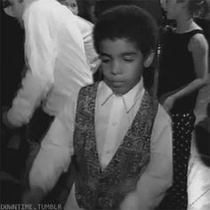 "Little Aubrey Graham busting out the original ""Wheelchair Jimmy"" dance for the camera at a bar mitzvah for ""HYFR."" #hiphop #musicvideo #lol"
