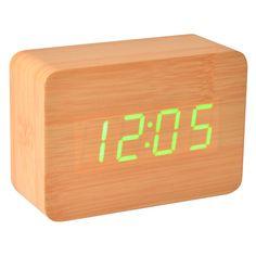 Wecker Holz mit LED grün aktiviert mit Klatschen- kramsen