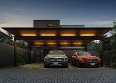 Car Porch Design, Garage Design, Two Story House Design, Modern House Design, Garage Exterior, Car Garage, Carport Canopy, Pergola, Carport Designs