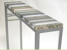 artist Marcia Stuermer, who designs acrylic resin furniture and art installations via her company Fossil Faux Studios