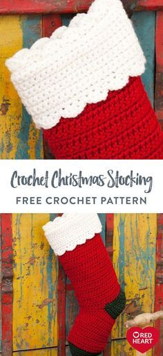 Knitted Christmas Stocking Patterns, Crochet Stocking, Christmas Yarn, Crochet Christmas Gifts, Crochet Christmas Decorations, Knitted Christmas Stockings, Holiday Crochet, Diy Stockings, Christmas Patterns