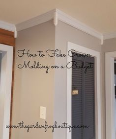 How to fake crown molding on a budget. Would you believe I did over 72 feet of 'faux' crown molding for around $110? I saved over $200 and that would have been…