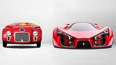 Ferrari ukazuje 70 let evoluce svých vozů vyráběných v letech 1947 až 2017