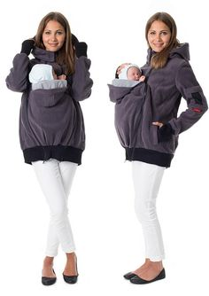 Need to remember this. Maybe not this one specifically but something similar. 4in1 Kangaroo maternity hoodie with baby by GoFutureWithLove