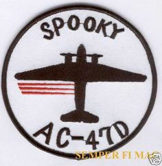 """AC-47 SPOOKY GUNSHIP VIETNAM PATCH AFB DC-3 US AIR FORCE """"Puff the Magic Dragon"""" in Collectibles, Transportation, Aviation 