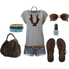 Cute | Summer | Clothes | Outfit-- without the huge necklace