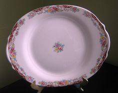 """Vintage Limoges 12"""" Oval  Platter The Charm Pattern Eggshell Multicolor Florals #Limoges"""