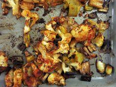 roast leeks + cauliflower - Elizabeth Minchilli in Rome
