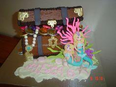Mermaid Treasure Chest Cake