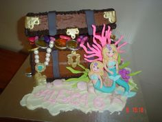 Mermaid Treasure Chest Cake