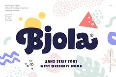 Bjola Sans Serif by Andrey Sharonov on @creativemarket