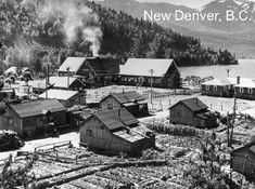 This is a Japanese-Canadian internment camp situated in New Denver, B.C. There were many such camps as this, where the Japanese were forced to go in 1942 till the duration of the war. This picture was taken in 1943.