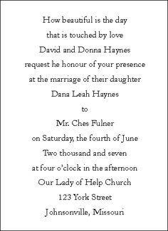 Wedding Invitation Wording Samples Invitations