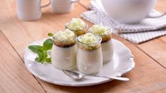 Flan de queso brie con caramelo y granizado de manzana - Elena Aymerich - Receta - Canal Cocina