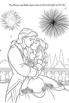 Disney Coloring Pages; Belle and the Beast!