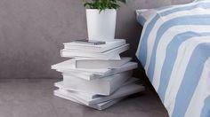 DIY recycler livres anciens fabriquer table chevet 6