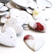 Heart Shaped Plantable Confetti  350 pieces of seed confetti / $9.95