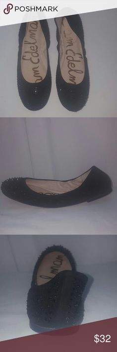 Sam Edelman black suede spiked studded flats 8.5 Sam Edelman Flats in mint condition. Size 8.5, suede. Thank you Sam Edelman Shoes Flats & Loafers