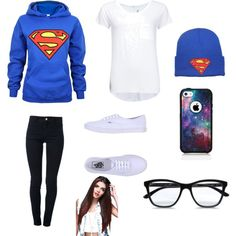 Superman <3, created by harrylover36 on Polyvore