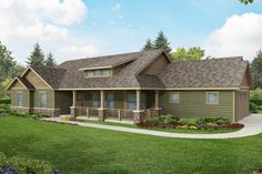 half stone half stucco rancher with porch - Yahoo Image Search Results