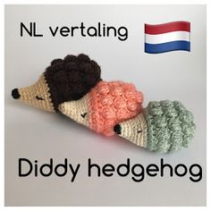 Handmade by E★: Egeltje haken / Diddy Hedgehog NL vertaling Crochet Fall, Crochet Bebe, Crochet For Kids, Free Crochet, Softies, Crochet Animals, Crochet Toys, Crochet Hedgehog, Crochets