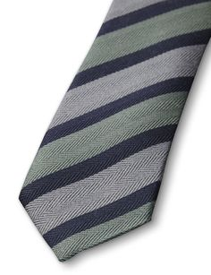 NATOIRE TIE-Men's tie in pure wool. Features woven herringbone stripes and Tiger of Sweden logo on lining. Width: 7 cm. Made in Italy