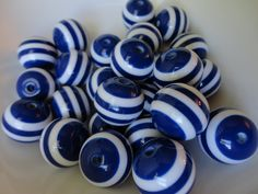 10Round Resin 20MM Striped Chunky by TheAccessoriesMarket on Etsy, $3.50