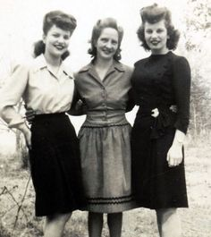 1940s - Typical everyday wear during the war. Simple and functional, but still feminine