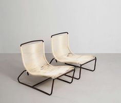 Pair of Bronze Lounge Chairs by Walter Lamb   From a unique collection of antique and modern lounge chairs at https://www.1stdibs.com/furniture/seating/lounge-chairs/