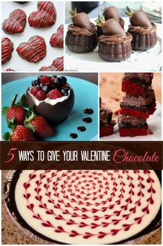 Valentines gifts | Chocolate for Valentine's Day? Yes, please! Here are five creative ways to give the gift of chocolate. Yum!