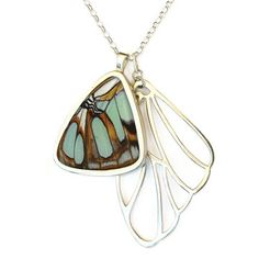 If your Outdoor Princess is more of an Outdoor Queen she might need this necklace made with a real butterfly wing!$365
