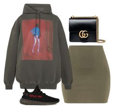 """""""Untitled #1954"""" by deamntr ❤ liked on Polyvore featuring Balenciaga, adidas and Gucci"""