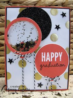 Giddy Stamper: Gold and Watermelon Graduation ~ HSS236