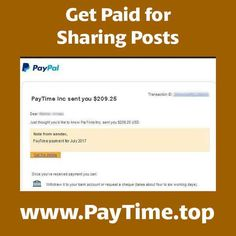 Hi, again ! 😊 Like earn some money ?  Very simple !  Just Share your posts only here in PAYTIME 🤗