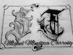 Chicano Lettering, Tattoo Lettering Fonts, Graffiti Lettering, Tattoo Alphabet, Writing Fonts, Tattoo Stencils, Beautiful Fonts, Calligraphy Letters, Hand Tattoos