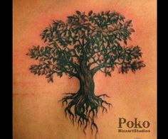 oak tree tattoo - tattoo thailand