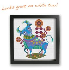 Taurus zodiac sign Satsuma Street modern cross stitch